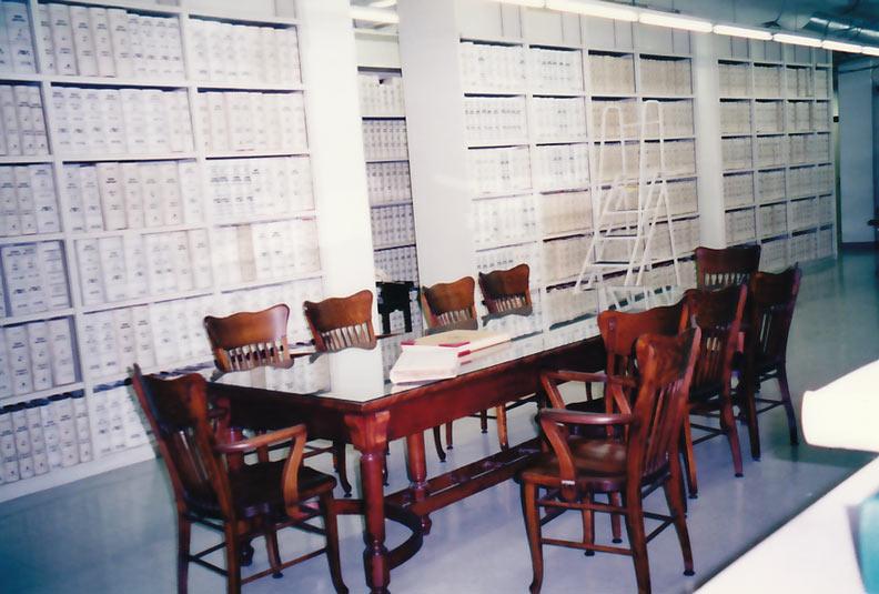 Iberia Parish Courthouse Records Room